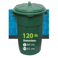 Урна круглая 120 L (зеленая)
