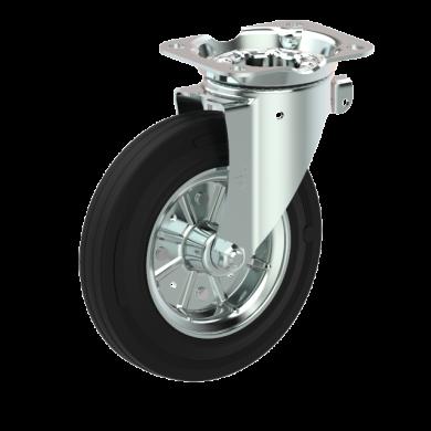 Колесо поворотное с тормозом Ø200 на 250kg