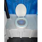 Туалетная пластиковая кабинка WC LUX, умывальник