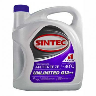 Aнтифриз SINTEC UNLIMITED G12++ -40 (фиолетовый) 5кг