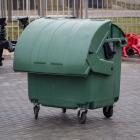 Контейнер для мусора 1100 л (круглая крышка) (зеленый). несмонтированный
