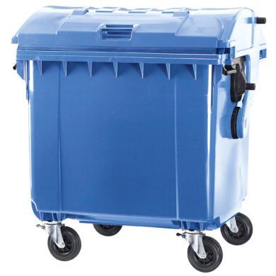 Контейнер для отходов на 1100 л (круглая крышка) (синий). Разобранный.