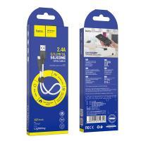 Hoco X21 Plus USB Силиконовый зарядный кабель (белый/черный)