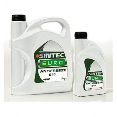 Антифриз Sintec EURO G11 -40°C зеленый. 5кг
