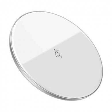 Беспроводное зарядное устройство Baseus Simple Magnetic (suit for IP12) белый WXJK-E02