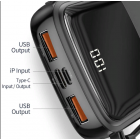Внешний аккумулятор Baseus Q pow Digital Display 3A 10000mAh (With IP Cable) белый PPQD-B02