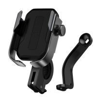 Держатель для телефона на велосипед, мопед, мотоцикл Baseus Armor SUKJA-01 чёрный