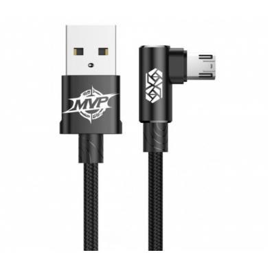 Кабель USB Baseus MVP Elbow Type For Micro 2A 1M чёрный CAMMVP-A01