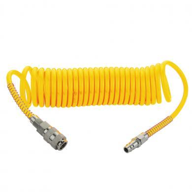 Шланг воздушный спираль М22  желтый 6м PPN015