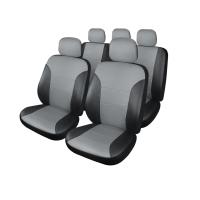 Чехлы для сидений Белорусь -605 Экокожа универсальные (черно-серый)