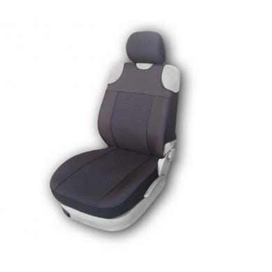 Чехлы на передние  сид-я  Тип майка Белорусь -317 Жаккард  к/т (черные) .