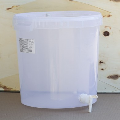 Ведро пластиковое для брожения 30 л, с краном и крышкой