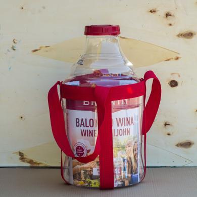 Бутыль пластиковый для вина с гидрозатвором , колпачком, ручками 15л
