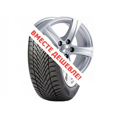 Шина  Диск для Dacia Duster (Диск 16  5х114,3  6.5J d=67.1 ET35/ SAKURA, селена, 1480108    205/55/16 Pirelli Winter Cinturato 91T зима)