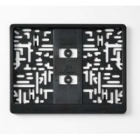 Рамка под номер пластмас квадратная Black-simple square