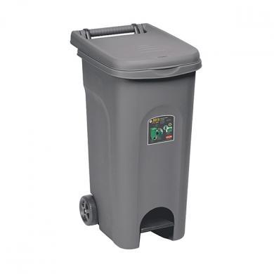 Урны для перевозки мусора, с педалью(80 Л, цвет гри )
