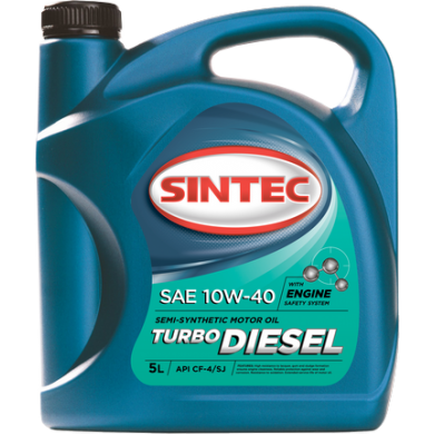 Масло Sintec Turbo Diesel 10W40 20L п/с Моторное масло