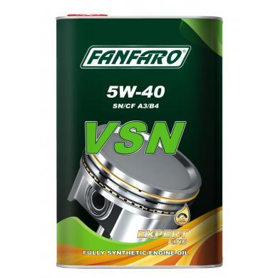 Масло FanFaro VSN (металл) 5W-40 (4L) Mоторное масло