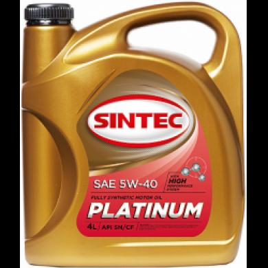 Масло Sintec Platinum  5W40 синт. 4L Моторное масло