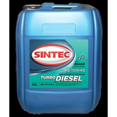 Масло Sintec Turbo Diesel 10W40 5L п/с Моторное масло