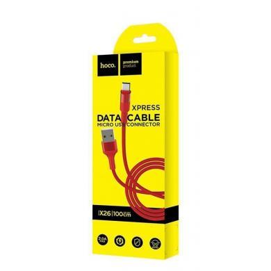 Hoco X26 Xpress USB Micro кабель для зарядки (красный)