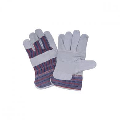 Перчатки рабочие прорезиненные (серые)