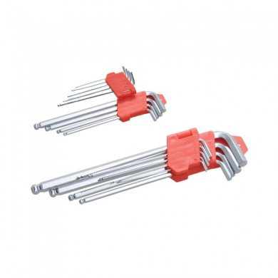 Ключи набор HEX 9шт long 230 mm