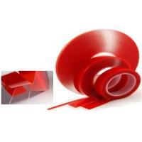 Скотч двухсторонний 10мм (красный-прозрачная)