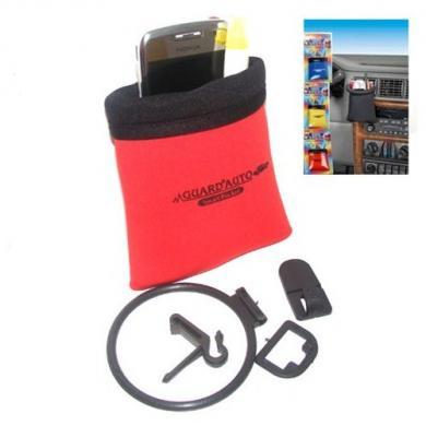 Карман-держатель для очков и мобильного телефона красный, AK-0201