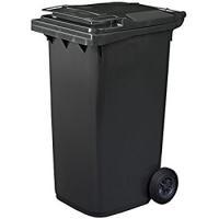 Контейнер для мусора с колесами EU 120 л (black)