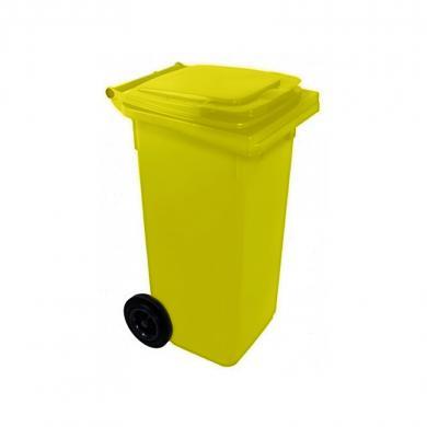 Контейнер для мусора с колесами EU 120 л (yellow)