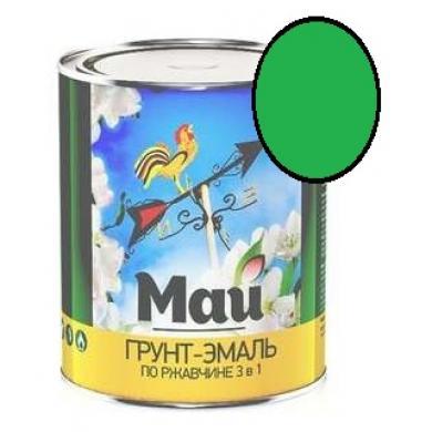 Грунт-эмаль МАЙ на ржавчину 1.9 кг (зеленая)
