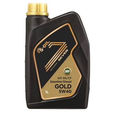Масло S-Oil 7 Gold 5W40 (1 л)