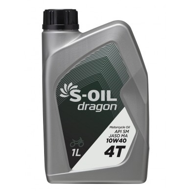 Масло S-Oil Dragon 4T SM/MA 10W40 (1 л)